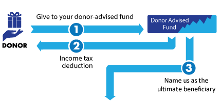 Gift of Donor-Advised Fund Diagram
